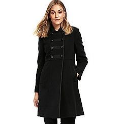 Wallis - Petites black military coat