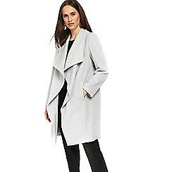 Wallis - Petite grey waterfall coat