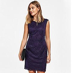 Wallis - Petite purple lace shift dress