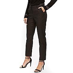Wallis - Petite bronze jacquard trouser