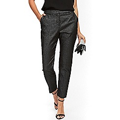 Wallis - Petite silver jacquard trouser