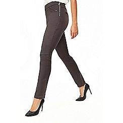 Wallis - Petite grey side zip trousers