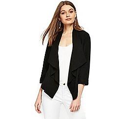 Wallis - Petite black waterfall jacket