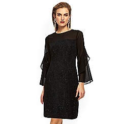 Wallis - Petites swirl glitter dress