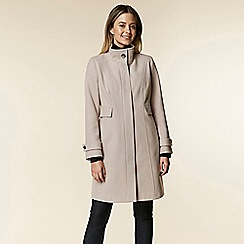 Wallis - Petite stone funnel neck coat
