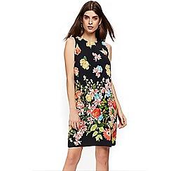 Wallis - Petite black floral shift dress