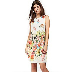 Wallis - Petite ivory floral shift dress