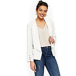 Wallis - Petite white button blazer