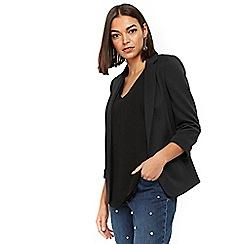 Wallis - Petite black ribbed jacket