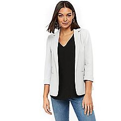 Wallis - Grey ribbed ponte jacket