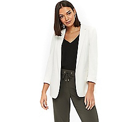 Wallis - Ivory ribbed ponte jacket