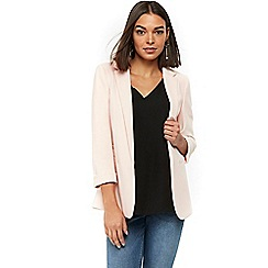 Wallis - Blush ribbed ponte jacket