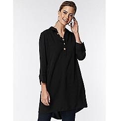 Wallis - Petite black button shift dress