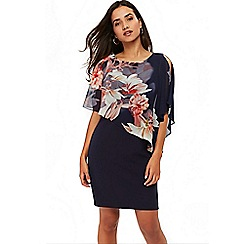 Wallis - Petite flroal overlayer dress