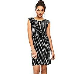 Wallis - Petite black tie spot dress