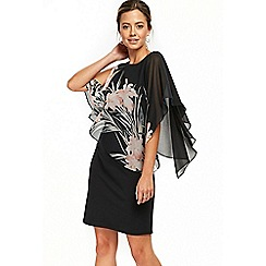 Wallis - Petite black lily overlayer dress