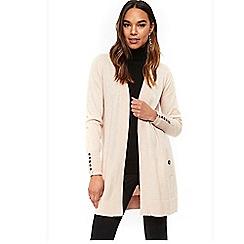 Wallis - Petite blush wool cardigan