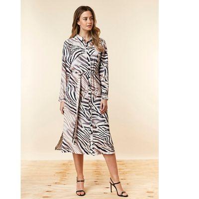 Wallis - Petite zebra print shirt dress 9792c1402