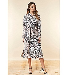 Wallis - Petite zebra print shirt dress