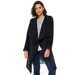 Wallis - Petites ink waterfall jacket