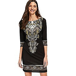 Wallis - Petite black paisley dress