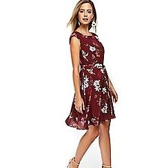 Wallis - Petite berry floral dress