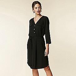 Wallis - Petite black utility shift dress