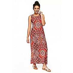 Wallis - Petite tribal floral orange maxi dress