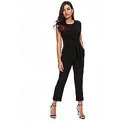 Wallis - Petite black tie side jumpsuit