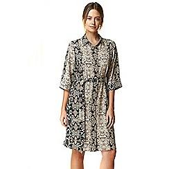 Wallis - Petite stone snake print shirt dress