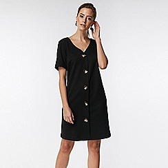 Wallis - Petite black button front dress