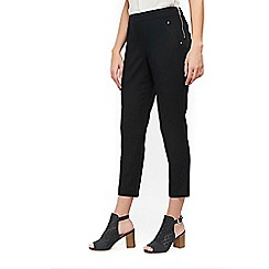 Wallis - Petite black stretch capri trousers