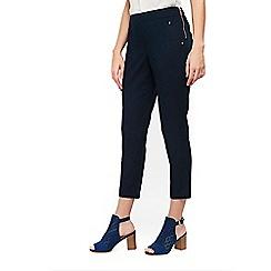 Wallis - Petite navy capri trousers