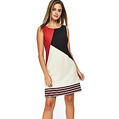 Wallis - Petite red colour block shift dress