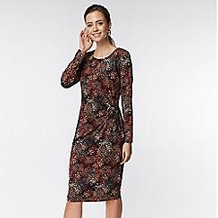 Wallis - Petite red printed wrap dress