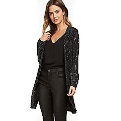 Wallis - Petite shimmer longline jacket