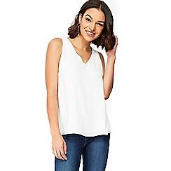 Wallis - Petite white camisole top