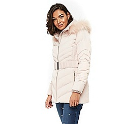 Wallis - Petites blush padded coat