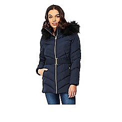 Wallis - Petite ink padded coat