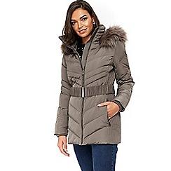 Wallis - Petites mink padded coat