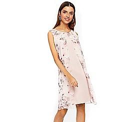 Wallis - Blush floral split front dress
