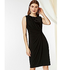 Wallis - Black sequin velour dress
