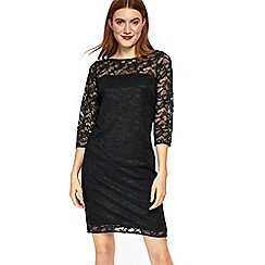 Wallis - Black ladder trim lace shift dress