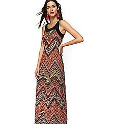 Wallis - Rust paisley maxi dress