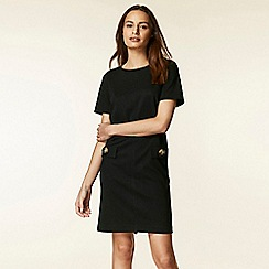 Wallis - Black button pocket shift dress