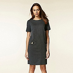 Wallis - Grey button pocket shift dress
