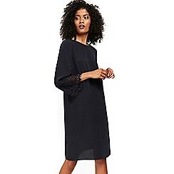 Wallis - Navy lace cuff shift dress