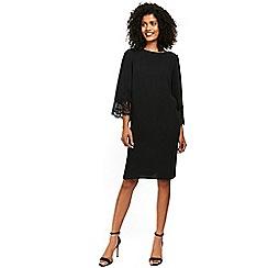 Wallis - Black lace cuff shift dress