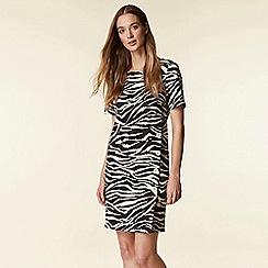 Wallis - Black animal print shift dress