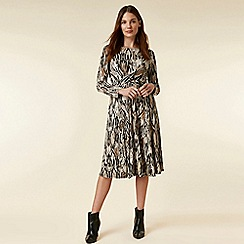 Wallis - Stone snake print wrap dress